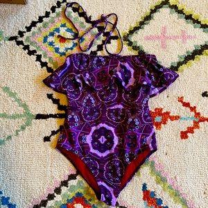 Zinke purple one piece bathing suit